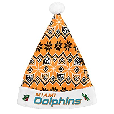 Forever Collectibles Miami Dolphins Knit Santa Hat - 2015