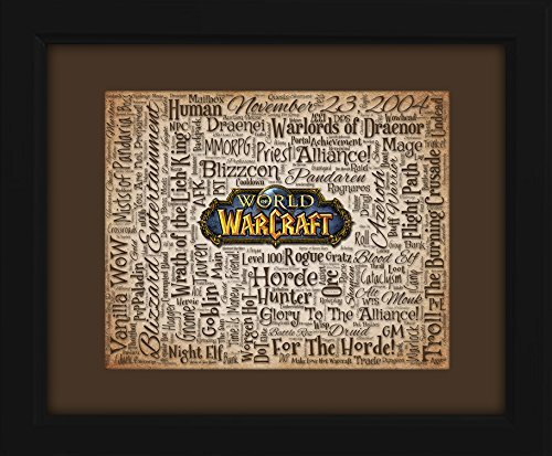 World of Warcraft 16x20 Art Piece - Beautifully matted and framed behind glass