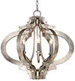 Cheap Ornament Aged Silver 23 1/4″ Wide 6-Light Chandelier