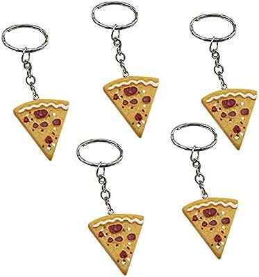 Wimagic 5 llaveros creativos de imitación de Pizza para ...