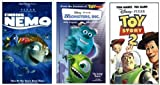 Finding Nemo + Monsters Inc. + Toy Story 2 VHS