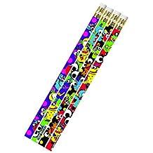 Musgrave Pencil Co Inc MUS2494D Mega Monsters 1Dz Pencils