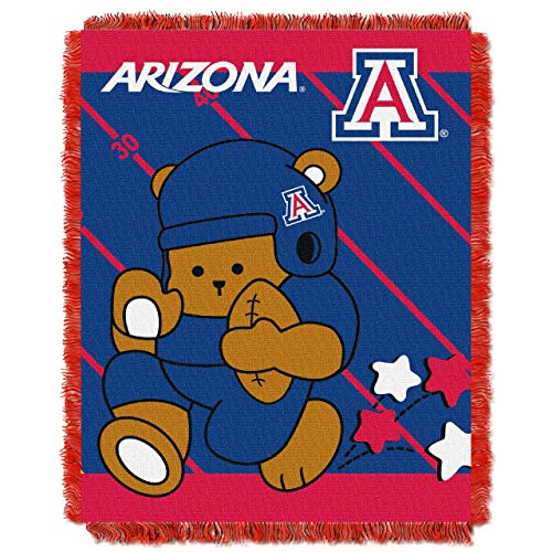 The Northwest Company Officially Licensed NCAA Arizona Wildcats Fullback Woven Jacquard Baby Throw Blanket, 36