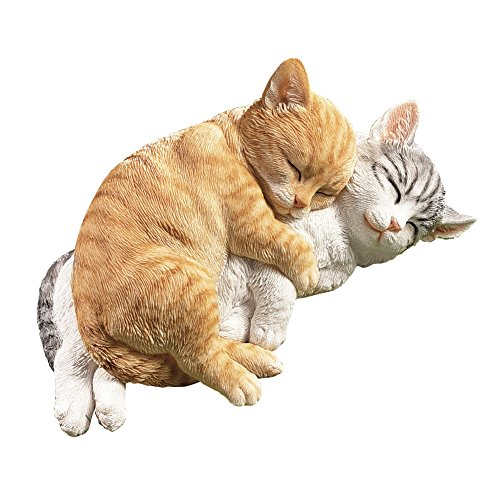Collections Etc Hand-Painted Life-Like Cuddle Cats Garden Figurine - Cat Figurine Statue
