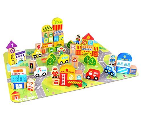 Town Blocks - Fat Brain Toys My Town Block Set