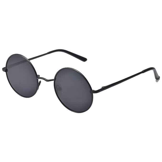 Meisijia donne retrò da uomo Occhiali da sole rotondi a specchio Eyewear Outdoor Occhiali sportivi 7VeyPEut6