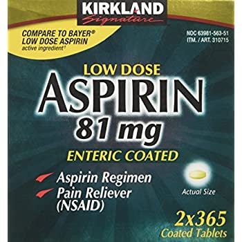 Amazon Time Cap Labs Aspirin Adult Low Dose Enteric Coated
