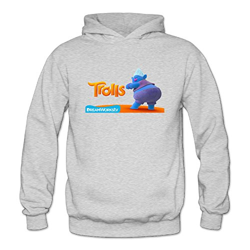Trolls 2016 Movie Women's Long Sleeve T-shirt Ash US Size M]()