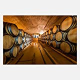 eFrame Fine Art | Wine Barrel Cellar, Cape Winelands, Winery South Africa 1 of 2 by Blaine Harrington 16'' x 24'' Print Wall Art for Wall or Home Decor (Black, Brown, White Frame or No Frame)