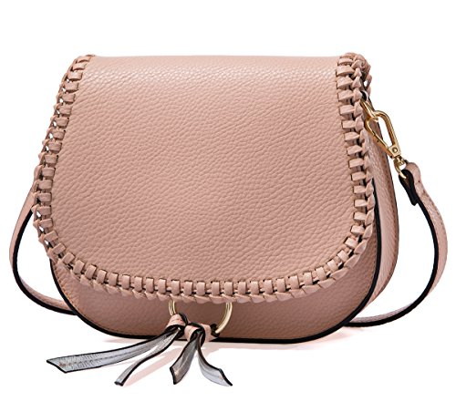 Small Shoulder Bags Braid Saddle Crossbody bags Satchel for Women Tote Bag with (Saddle Flap Handbag)