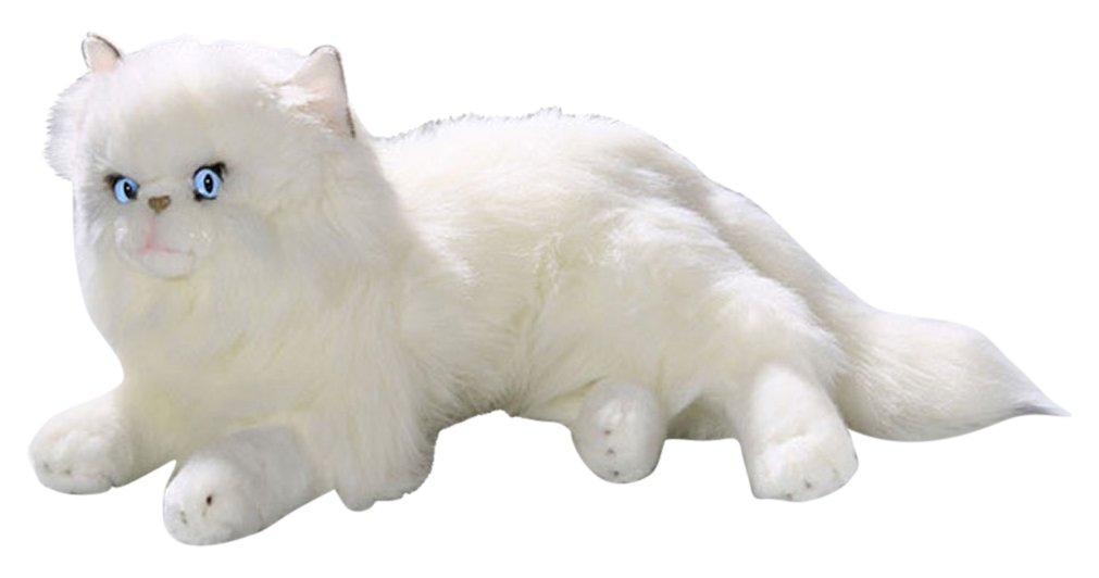 Toizz 33.56053 35 cm bicolini tumbado peluche de gato persa blanco