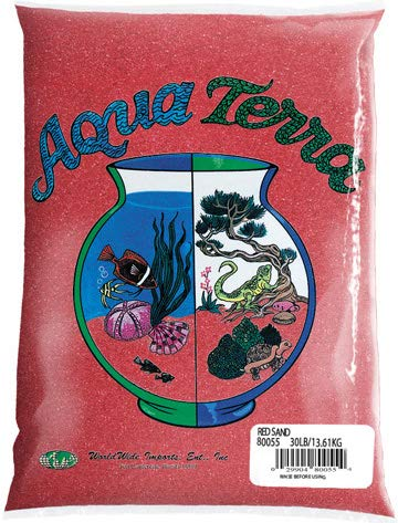 Nature's Ocean Aqua Terra Red Sand 5 lb Bag, Natural Aquarium Sand ()