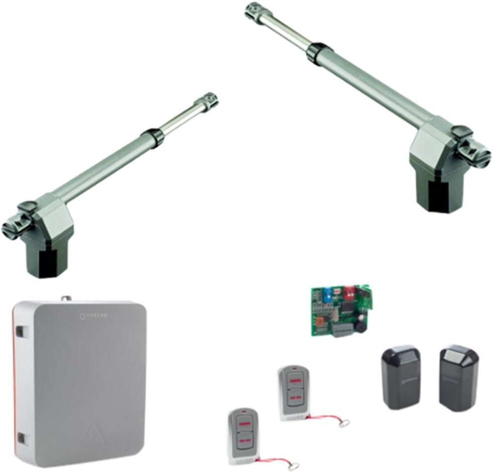 Erreka ARES75 Kit Completo de Motores para Puertas Batientes Residenciales de hasta 3 m, Set de 2 Piezas: Amazon.es: Bricolaje y herramientas