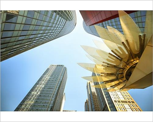 10X8 Print Of Glass And Golden Metal Lotus Installation In Front Of Hsbc Bank With  11305791