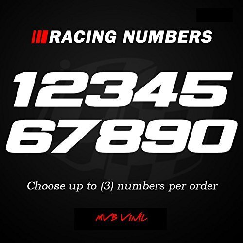 Racing Numbers Vinyl Decal Sticker 0499 - Plate Numbers Style 3