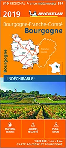 Carte Bourgogne Michelin.Amazon Fr Carte Bourgogne Michelin 2019 Michelin Livres