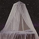 Bed Canopy with Fluorescent Stars Glow in Dark for