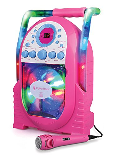 Singing Machine Portable Vertical Load CDG Player with Disco Effect, Pink by Singing Machine (Image #1)