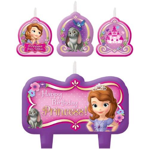 Amscan AM-171351 Birthday Candles, 4 Pieces, Multicolor -