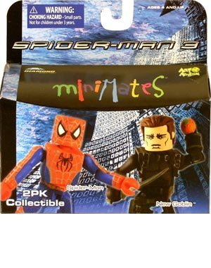 Spider Man New Suit (Marvel Minimates 17 Spider-man 3: Red Suit Spider-man & New Goblin)