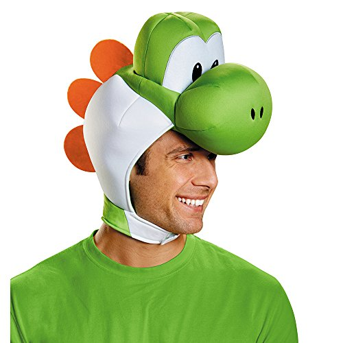 [Disguise Men's Yoshi Costume Accessory Headpiece - Adult, Green, One Size] (Nintendo Costumes For Adults)