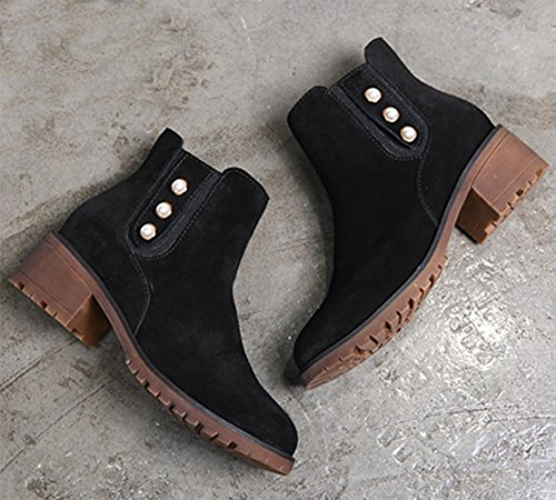 MEI autumn and winter female boots Martin boots round shoes scrub short boots , US6.5-7 / EU37 / UK4.5-5 / CN37