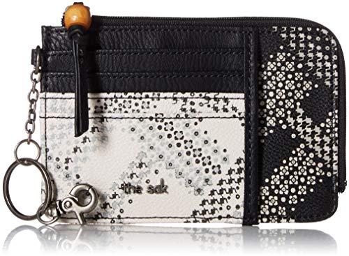 (The Sak Iris Card Wallet,  Black/White Floral Plaid, One Size )
