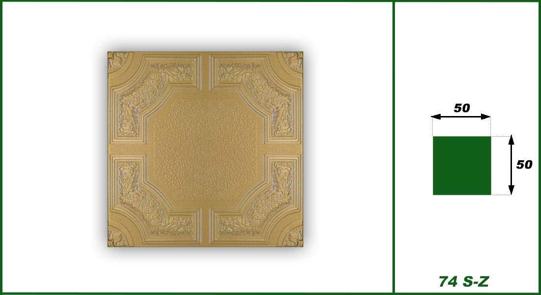 1m /² Ceiling Tiles XPS Formfest Hexim 50x50cm Nr.74 S-Z