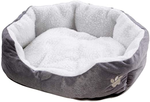 CPNWB Cama para Mascotas Cute Kawaii Paw Soft Plush Dog Bed para Perros pequeños Puppy Bed Cat Animals Supplies Lounger para Perros Kitten House Mat Productos para Mascotas: Amazon.es: Productos para mascotas