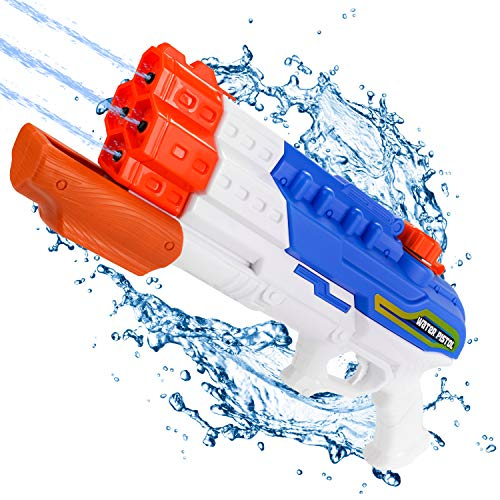 Biulotter Water Guns for Kids Adults, 1200cc Super Soaker Water Blaster Pistol Squirt Gun for Water Fight Summer Toys Outdoor Swimming Pool Beach Sand Water Toy 30-35 Feet Shooting Range for Kid&Adult ()