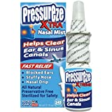 Pressureze 'Xtra' Nasal Spray - 34 ml - Fast, Natural Relief from Sinus & Ear Pressure Symptoms, Congestion, Stuffy Nose, Blocked Ears, Nasal Drip