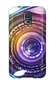 Holly M Denton Davis's Shop New Style Awesome Case Cover/galaxy S5 Defender Case Cover(digital Abstract Eye) 6577372K60704250