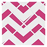 Sweet Jojo Designs Hot Pink and White Chevron Zig Zag Fabric Memory/Memo Photo Bulletin Board