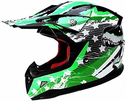 Amazon.es: Casco Motocross Niño ECE Homologado - YEMA YM-211 Casco ...