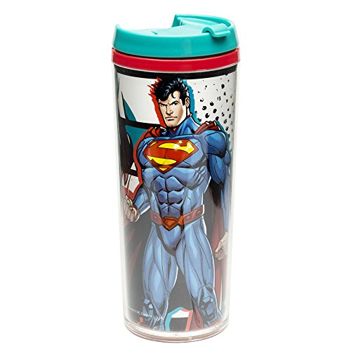 (Zak Designs Justice League 7 oz. Insulated Travel Tumbler, Superman)