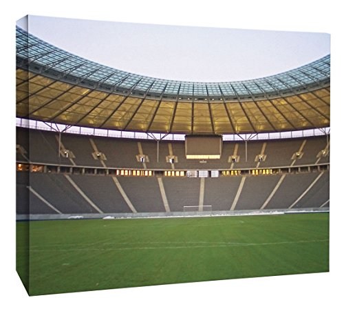 JP London MCNV2211 Goal Soccer Stadium World Cup Penalty Kick 2'' Thick Heavyweight Gallery Wrap Canvas, 3' x 2' by JP London