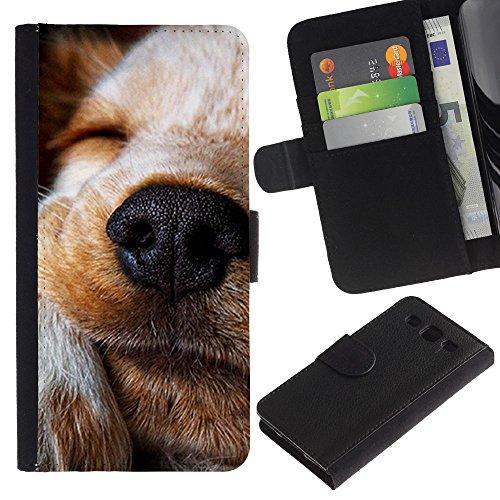 EuroCase - Samsung Galaxy S3 III I9300 - jack Russell Labrador retriever terrier dog - Cuero PU Delgado caso cubierta Shell Armor Funda Case Cover