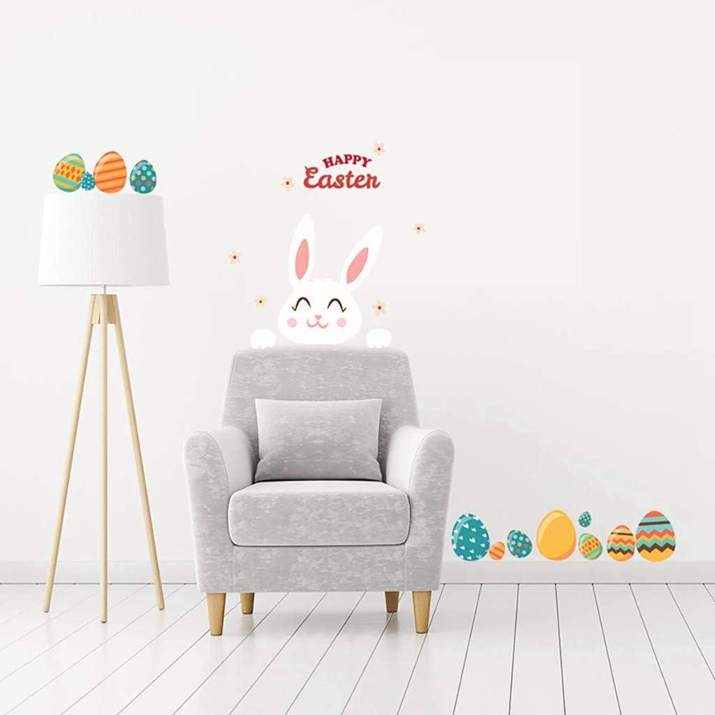 Autocollant de P/âques Mignon Lapin Stickers pour fen/être D/écoration de Chambre