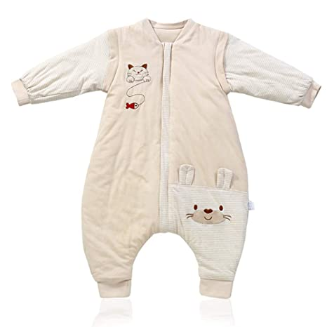 AZUO Bebé Saco De Dormir Pierna Partida Invierno Usable Mantas Pierna Partida Tambalearse Niño Pequeño Saco