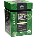Ultimate Reishi Mushroom Formula by Mehdi Reishi – 30 Servings, 1,000mg-100% Pure, Natural, Organic Spores & Extract-Ganoderma Lucidum, Lingzhi - High Potency Beta-Glucan, Triterpenes