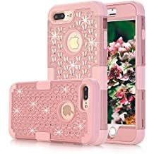 iPhone 7 Plus Case, MCUK 3 In 1 Hybrid Best Impact Defender Cover Silicone Rubber Skin Hard Combo Bumper with Scratch-Resistant Case For Apple iPhone 7 Plus (2016) (Rose Gold)