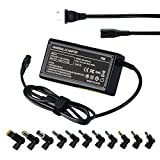 Portable Universal Laptop Charger 70W Multi Tips Silm Notebook AC Adapter Compatible with Dell HP Asus Lenovo Acer Toshiba 15-20V Notebook Easy to Carry Power Supply (Automatic Voltage, 13 tips,Black)