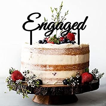 Cake Topper Engagement Party Gold Silver Other Color