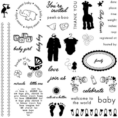 UPC 078484089026, Fiskars 8x8 Inch Baby Clear Stamps (12-89028897J)