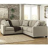 Cheap Flash Furniture Signature Design by Ashley Alenya 2-Piece Sofa Sectional in Quartz Microfiber