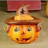 New Halloween Decoration Pumpkin Light Candlestick Black Cat Bat Witch