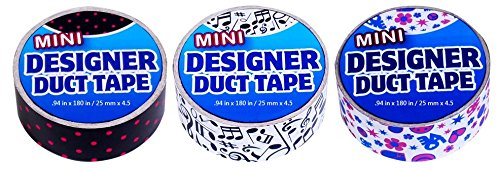 Duct Tape Mini 3 pack Polka Dots, Music, Peace Love Polka Note