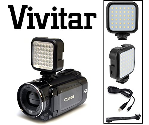LED Video Light With Li-Ion Power Kit For Sony HDR-TD10 HDR-PJ10 by - Vivitar