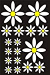 17 White Daisy Flower Shaped sticker...