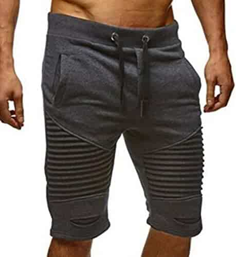 dce7f2b806d8 PASATO Clearance!Men Trousers Sweatpants Slacks Elastic Waist Sportwear  Baggy